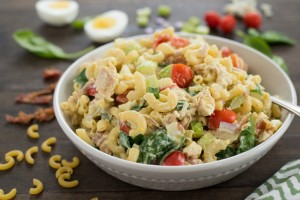 Chicken Cobb Macaroni Salad | Milk Means More Blog