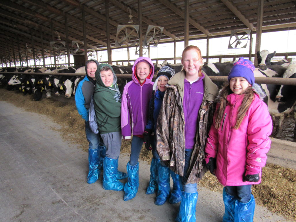 Students touring Goma Dairy