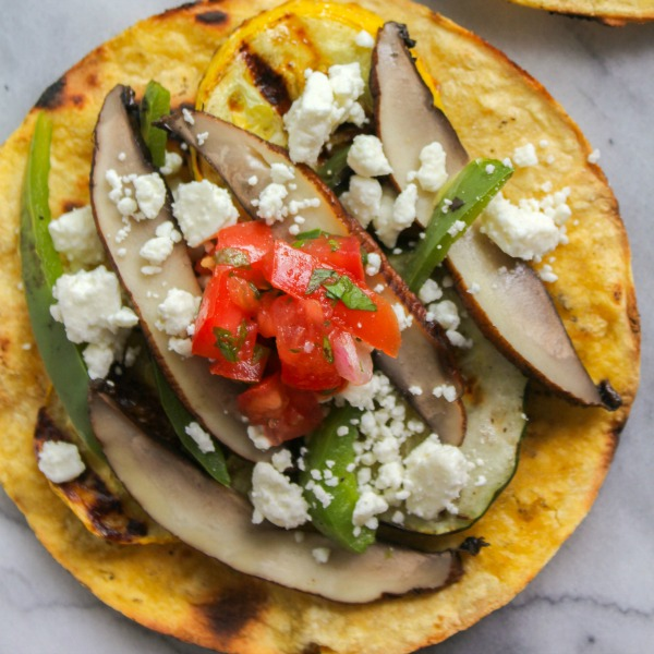 Grilled Vegetable Tostadas-featured image