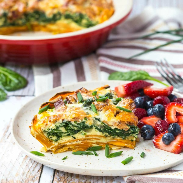 Spinach Bacon Cheddar Quiche-featured image
