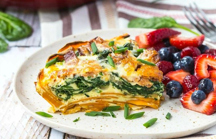 Bacon Cheddar Quiche with Sweet Potato Crust Mothers Day Brunch Recipes