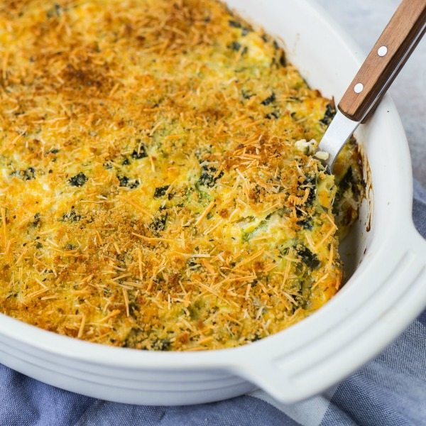 Cheesy, comforting, and filling, this zucchini rice casserole is going to become a favorite around any family table. It's also a great use for leftover rice