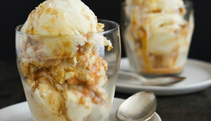 Eggnog Caramel Ice Cream - ice cream recipes
