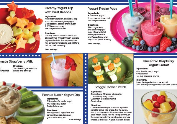 Super Dairy Snacking booklet