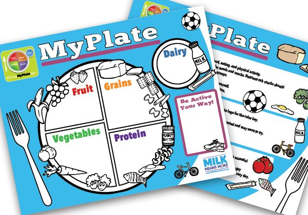 Myplate For Kids Handout United Dairy Industry Of Michigan