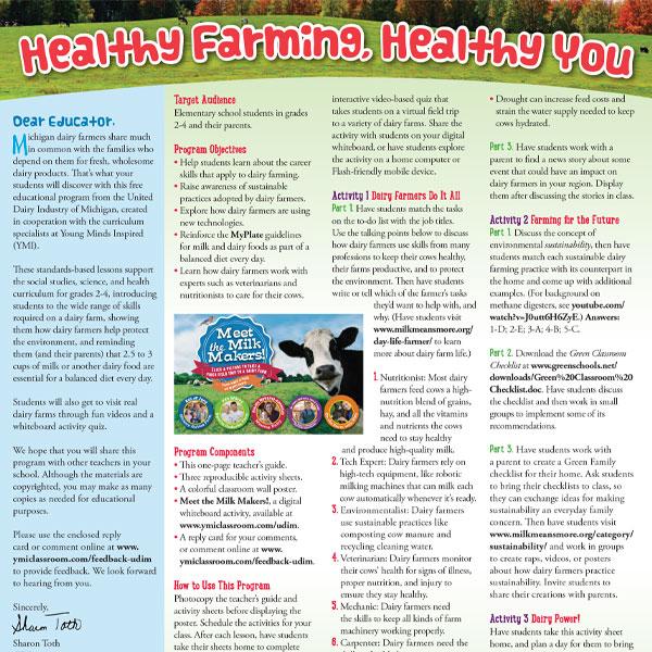 Healthy Farming, Healthy You