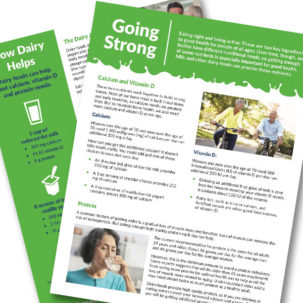 Going Strong handout for older adults