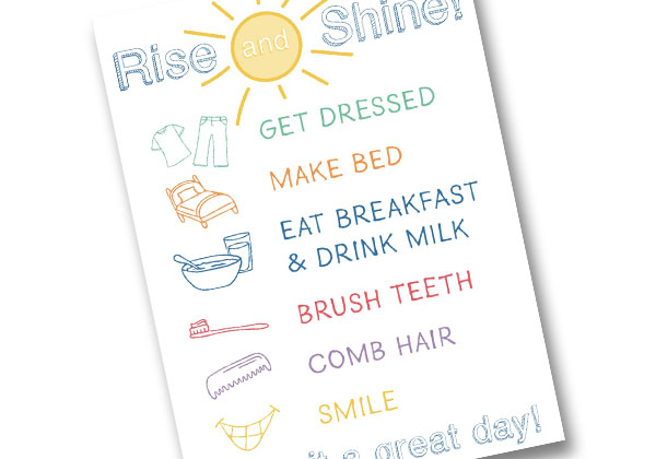 Daily Checklist Mirror Cling