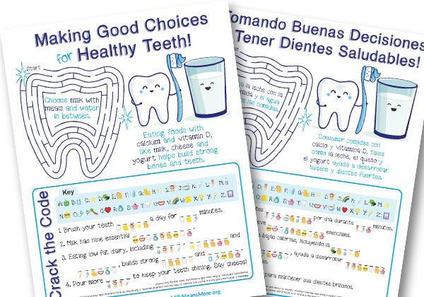 Bi-Lingual Dental Activity Page