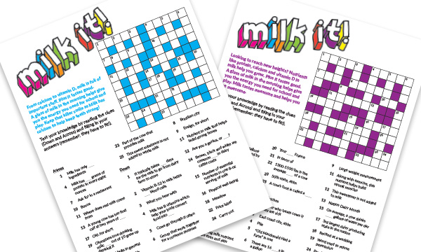 Milk It! Crossword Puzzle