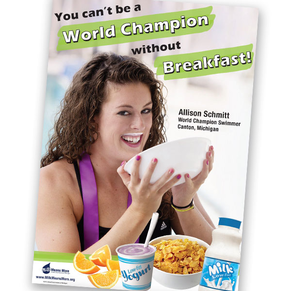Allison Schmitt Breakfast Poster