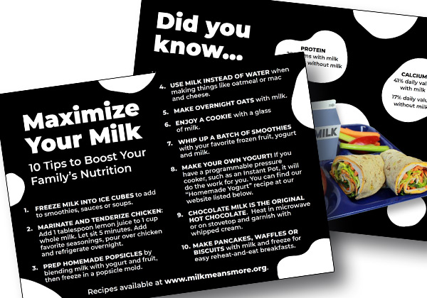 Maximize Your Milk postcard